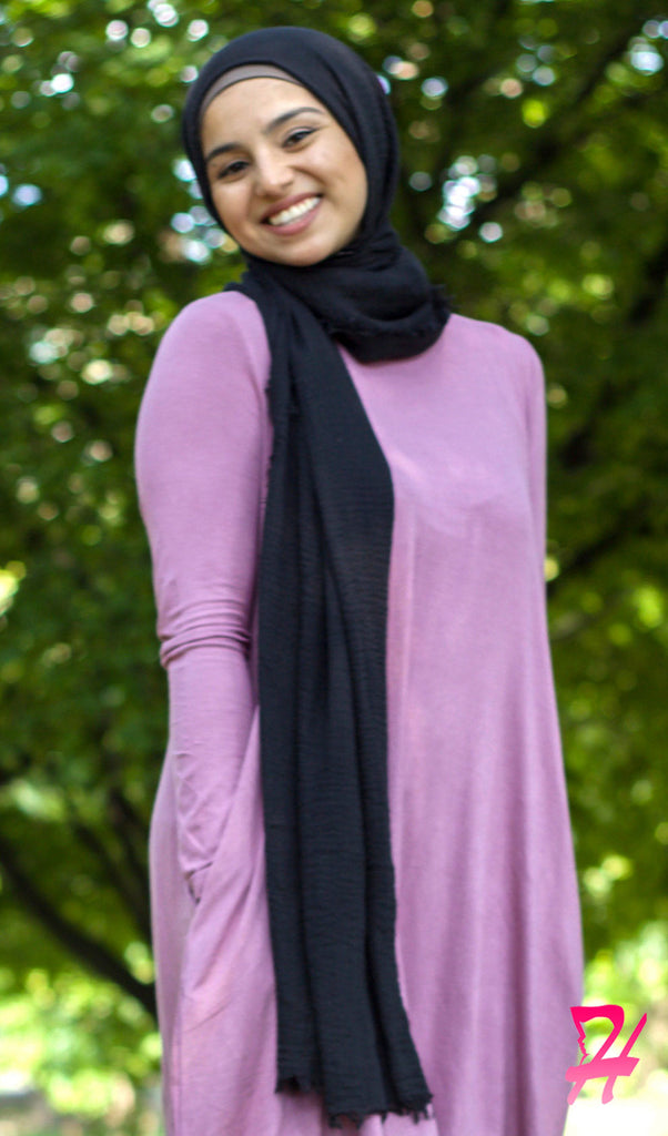 Cotton Cloud Hijab Scarf - Black
