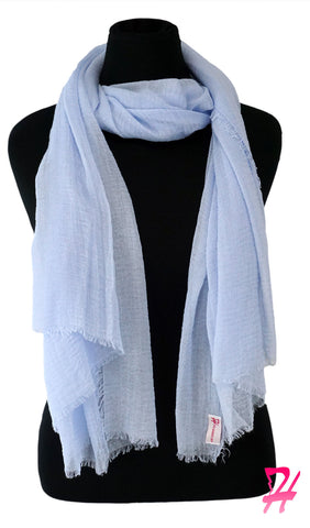 Cotton Cloud Hijab Scarf - Baby Blue