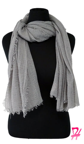 Cotton Cloud Hijab Scarf - Light Gray