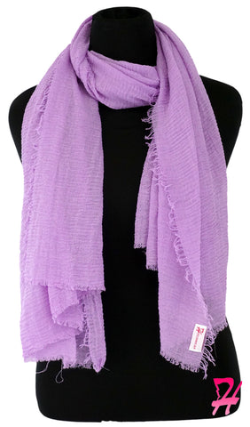 Cotton Cloud Hijab Scarf - Lilac
