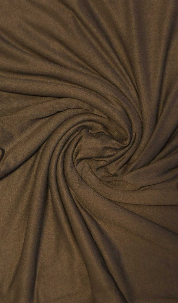 Dark Brown Maxi Jersey Hijab Fabric