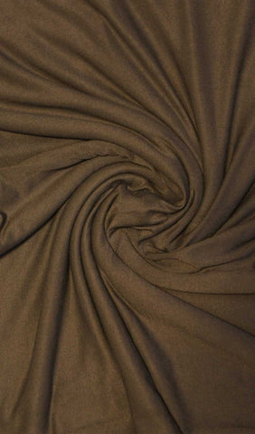 Dark Brown Jersey Hijab Fabric