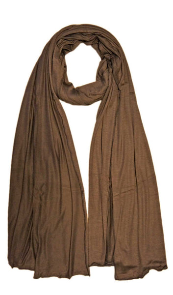 Maxi Jersey Hijab Scarf - Dark Brown