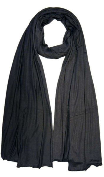 Cotton Jersey Hijab Scarf - Dark Gray