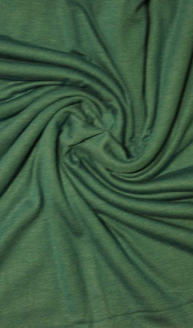 Dark Green Cotton Jersey Hijab Fabric