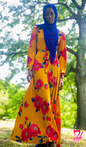 Floral Wrap Long Sleeve Maxi Dress - Mango