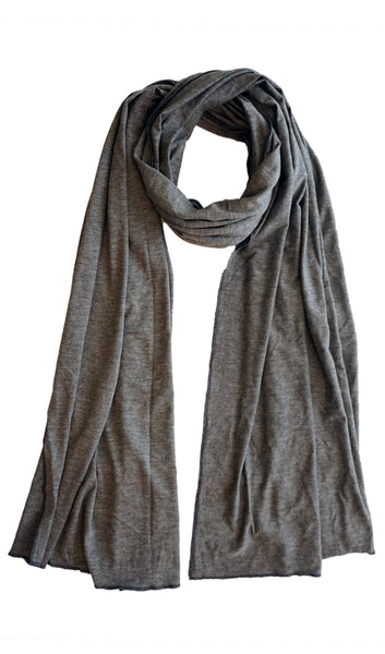 Cotton Jersey Hijab Scarf - Heather Gray