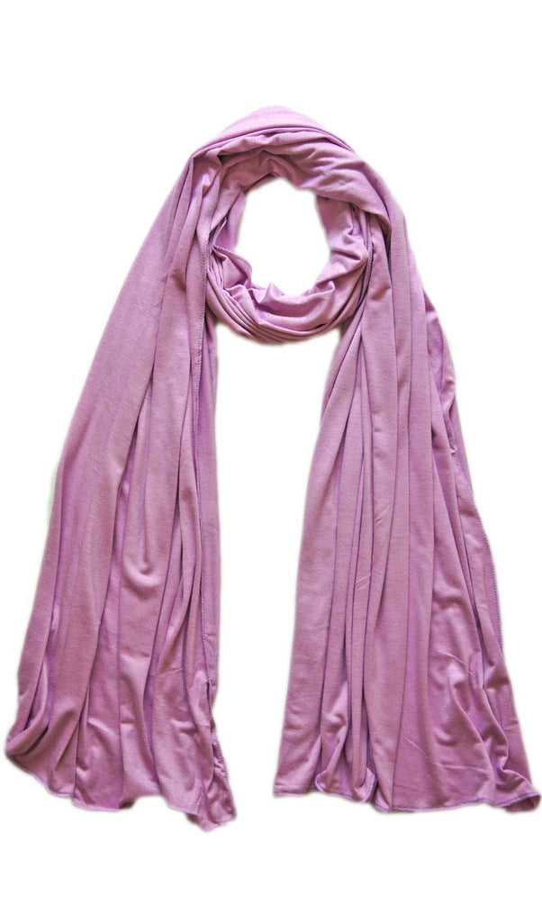 Cotton Jersey Hijab Scarf - Lilac