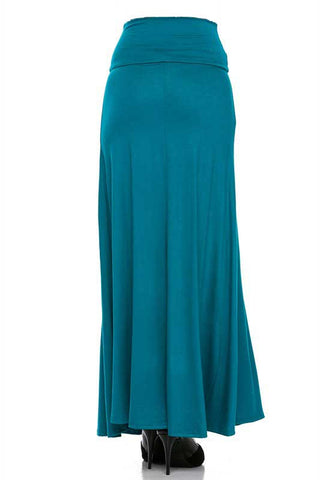 Teal Maxi Skirt Back