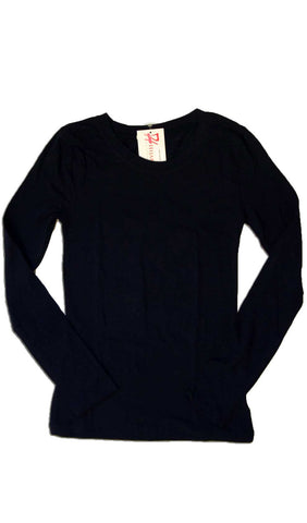 Navy Blue Long Sleeve T-shirt