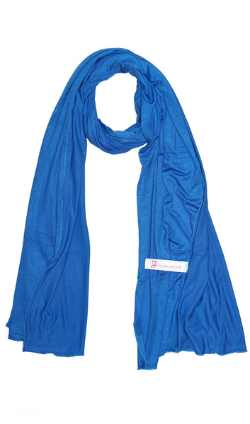 Cotton Jersey Hijab Scarf - Ocean Blue