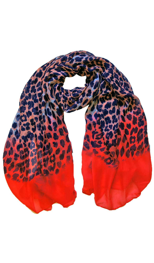 Pink & Blue Ombre Panther Hijab Scarf