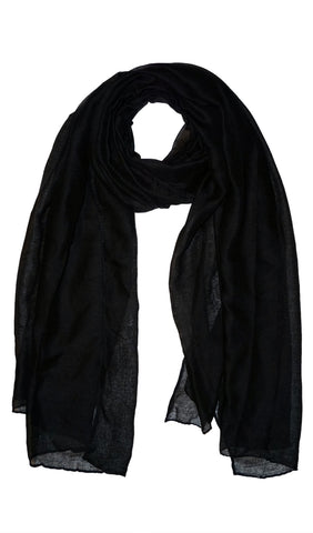 Plain Viscose Maxi Hijab - Black