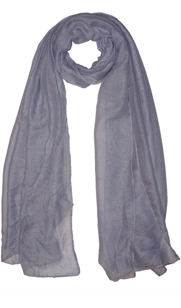Plain Viscose Maxi Hijab - Blue Gray
