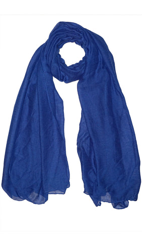 Plain Viscose Maxi Hijab - Blue
