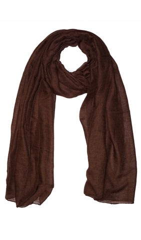 Plain Viscose Maxi Hijab - Brown