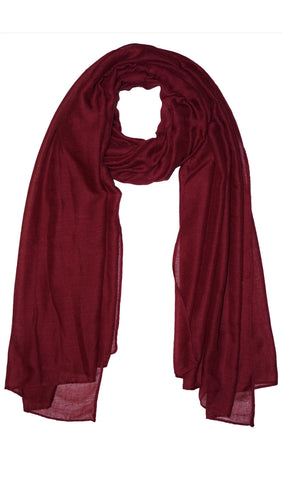 Plain Viscose Maxi Hijab - Burgundy