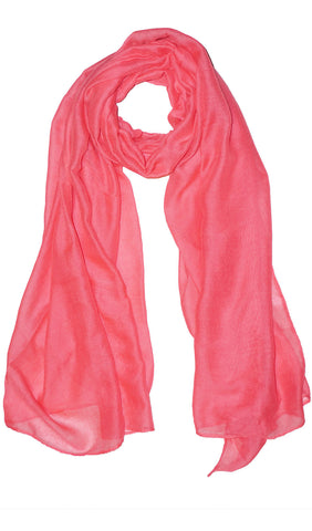 Plain Viscose Maxi Hijab - Cotton Candy Pink