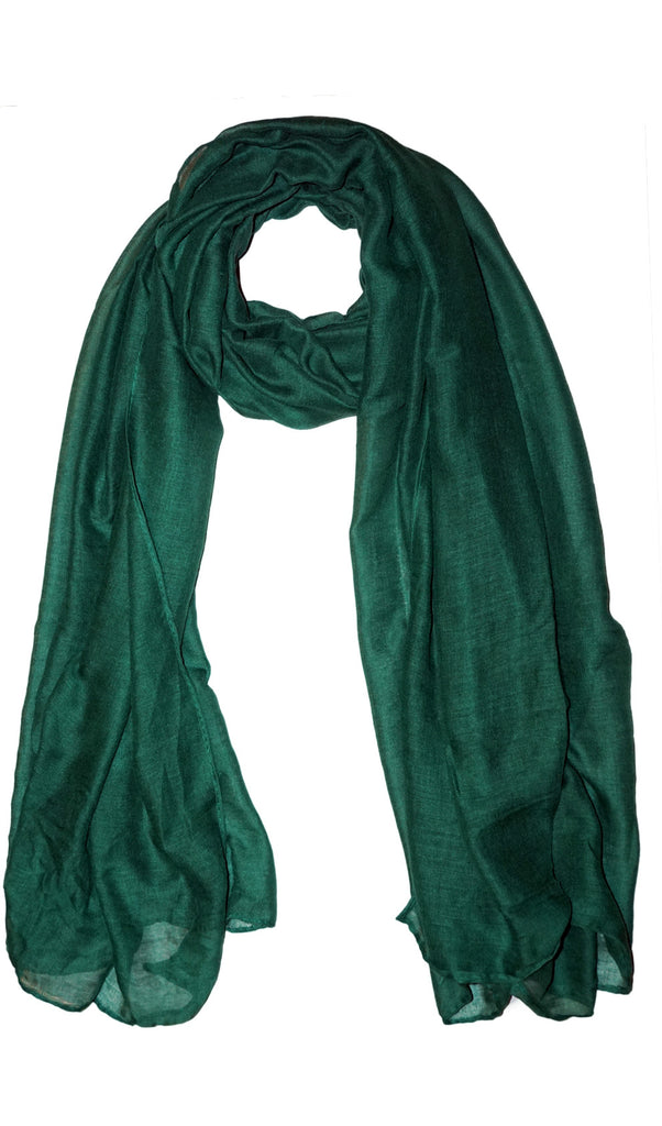 Plain Viscose Maxi Hijab - Green