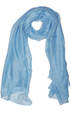 Plain Viscose Maxi Hijab - Light Blue
