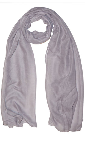 Plain Viscose Maxi Hijab - Light Gray