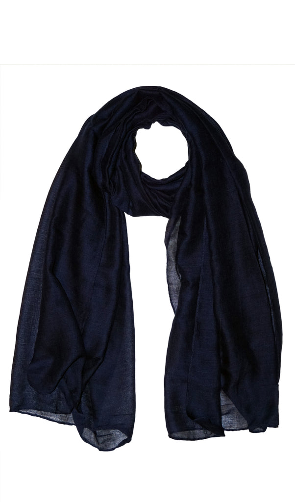 Plain Viscose Maxi Hijab - Navy Blue