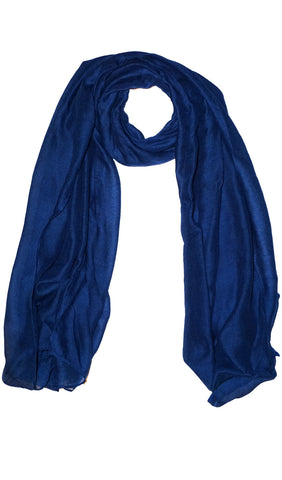 Plain Viscose Maxi Hijab - Royal Blue