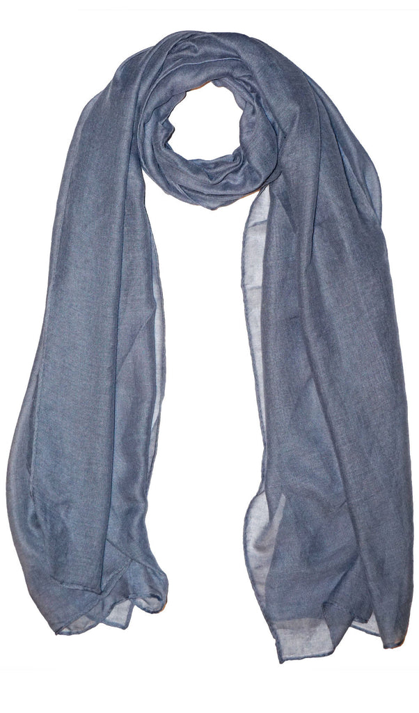 Plain Viscose Maxi Hijab - Steel Gray
