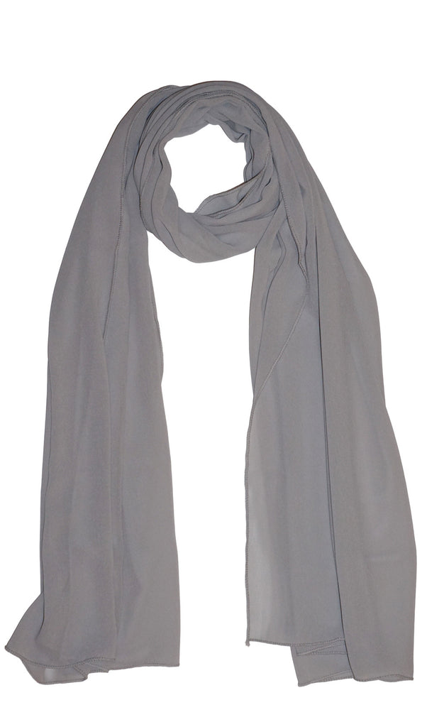Premium Chiffon Hijab Scarf - Light gray