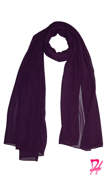 Premium Chiffon Hijab Scarf - Grape
