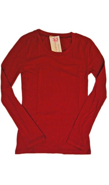 Long Sleeve T-Shirt - Rose Red