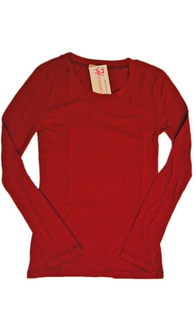 Rose Red Long Sleeve T-shirt