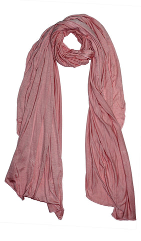 Cotton Jersey Hijab Scarf - Rose