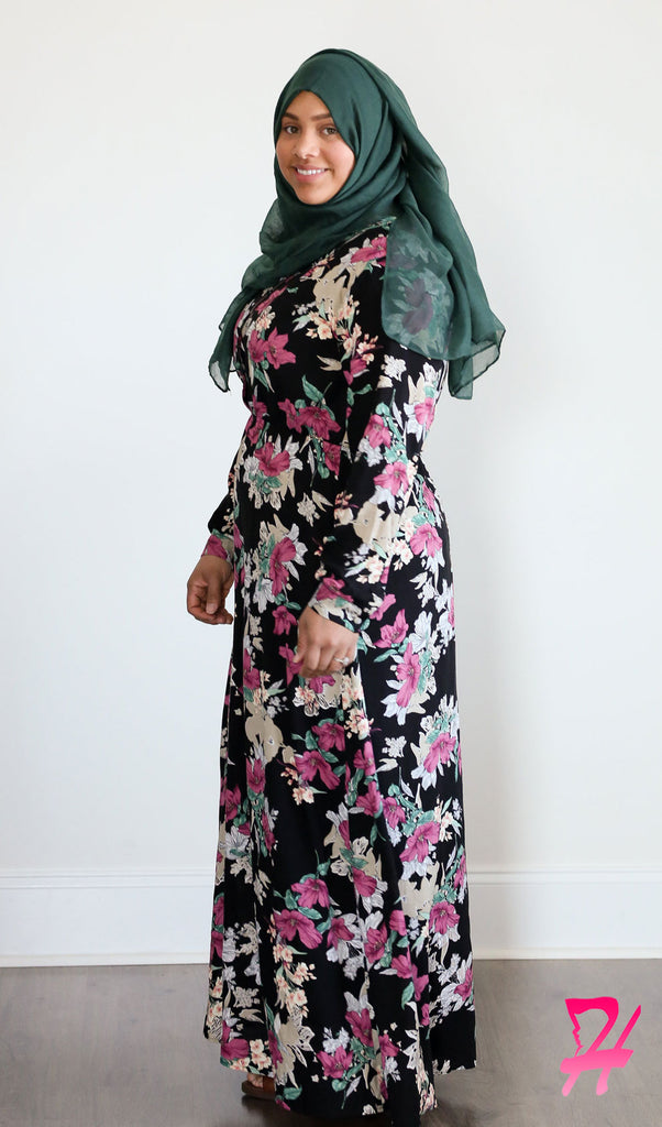 Sumaya Long Sleeve Maxi Dress - Spring Floral