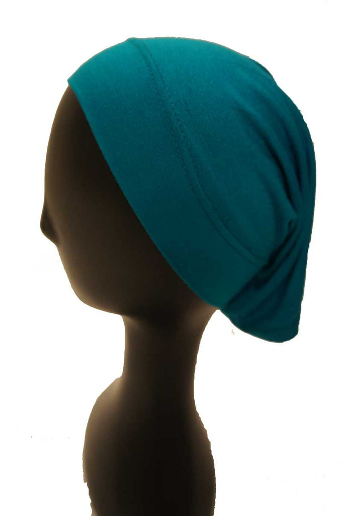 teal green underscarf side