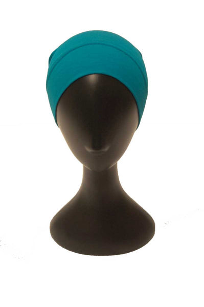 Teal Green Cotton Underscarf Cap