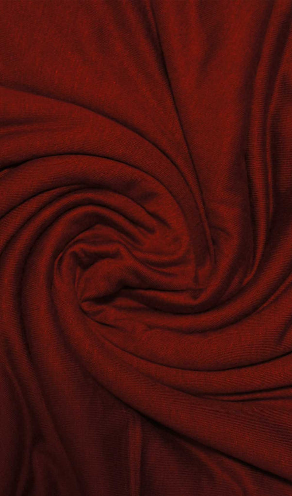 Wine Red Cotton Jersey Hijab Fabric