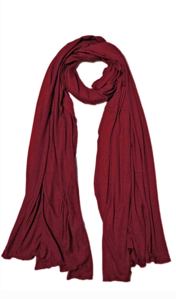 Wine Red Maxi Jersey Hijab