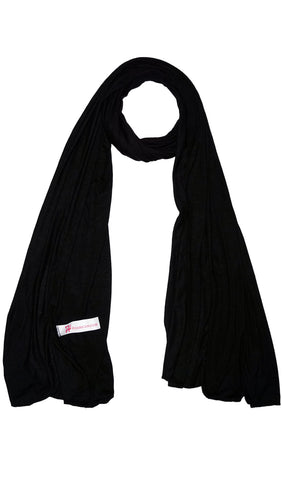 Cotton Jersey Hijab Scarf - Black