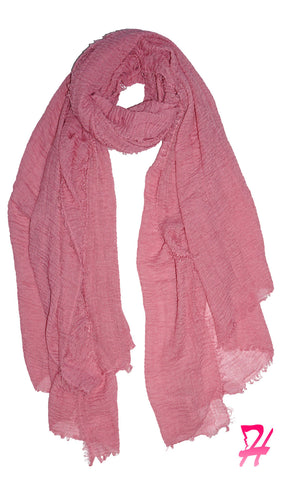 Cotton Cloud Hijab Scarf - Baby Pink
