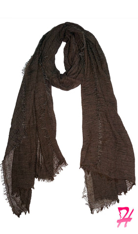 Cotton Cloud Hijab Scarf - Chocolate