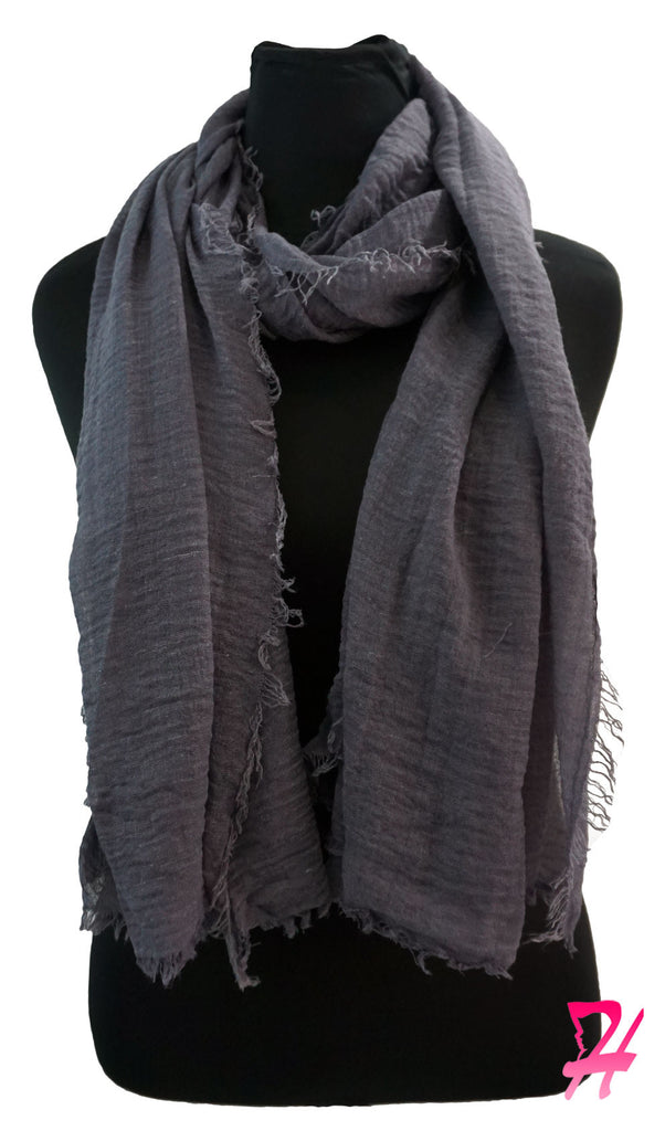 Cotton Cloud Hijab Scarf - Deep Gray