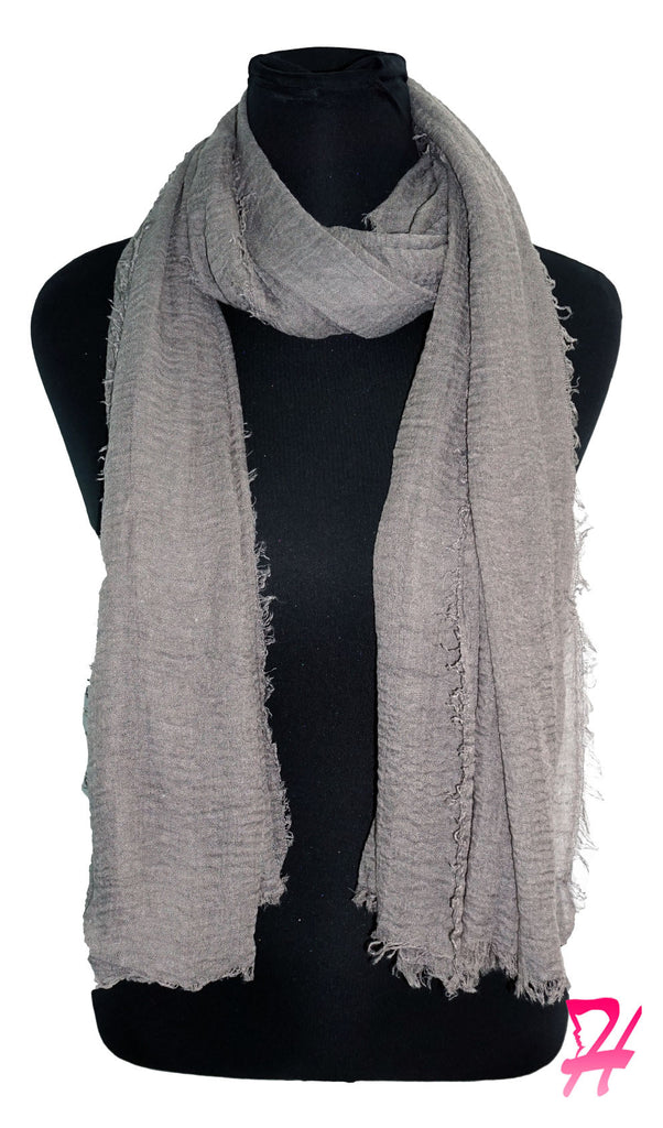Cotton Cloud Hijab Scarf - Grey