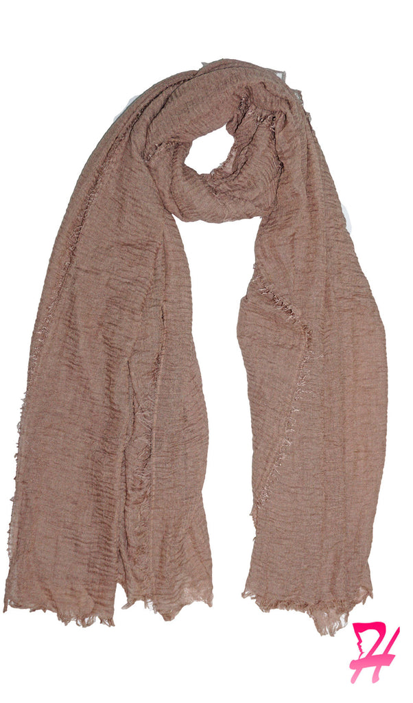 Cotton Cloud Hijab Scarf - Khaki