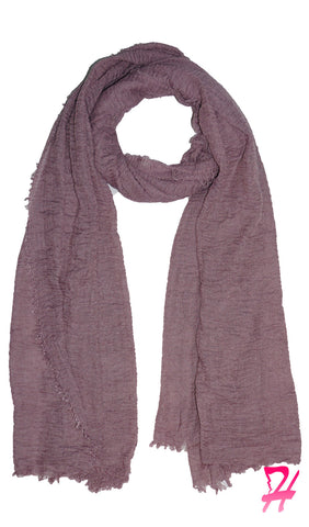 Cotton Cloud Hijab Scarf - Mauve