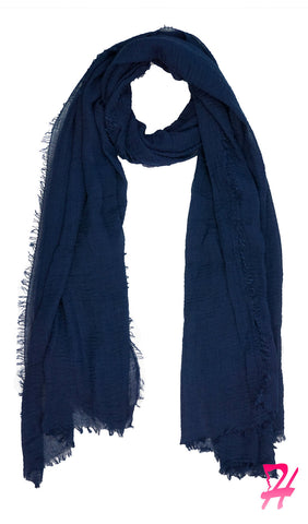 Cotton Cloud Hijab Scarf - Navy