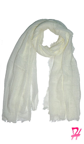 Cotton Cloud Hijab Scarf - White