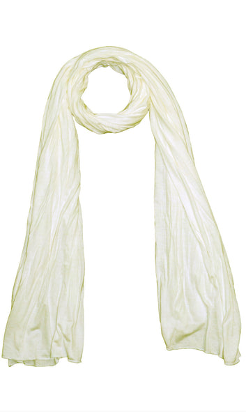 Cotton Jersey Hijab Scarf - Cream