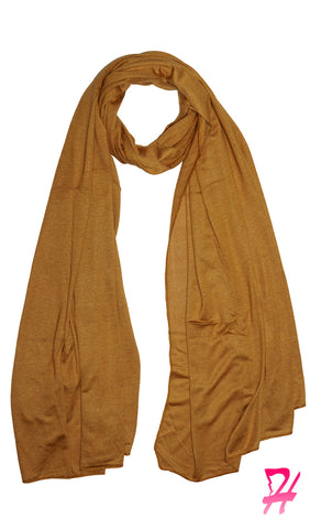 Cotton Jersey Hijab Scarf - Dark Gold