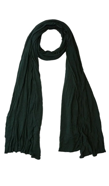 Cotton Jersey Hijab Scarf - Dark Green